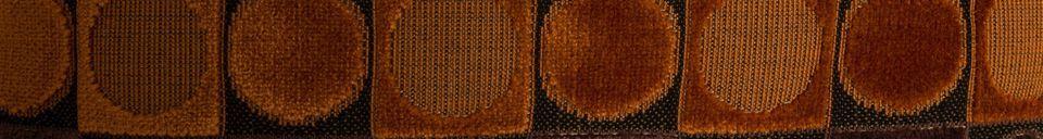 Mise en avant matière Coussin Ottawa rouge et orange