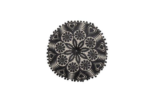 Coussin Pexiora en coton noir