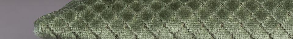 Mise en avant matière Coussin Spencer Vieux Vert