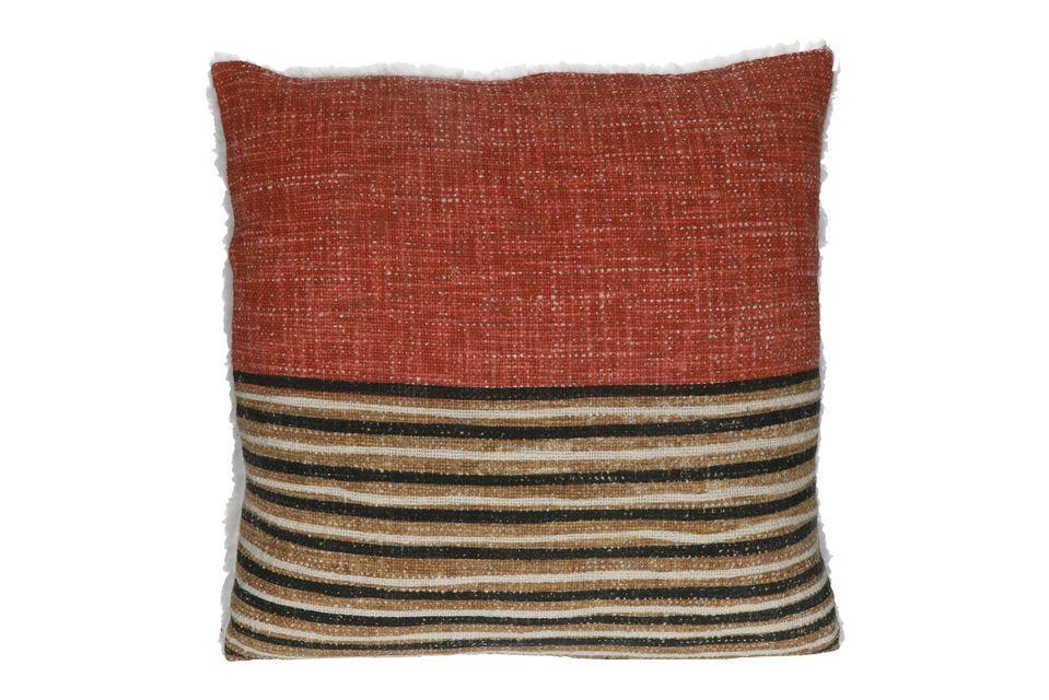 Dynamisez la décoration de votre salon ou de votre chambre avec le coussin Toudou à motifs