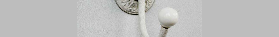 Mise en avant matière Crochet en fonte Sorgue gris
