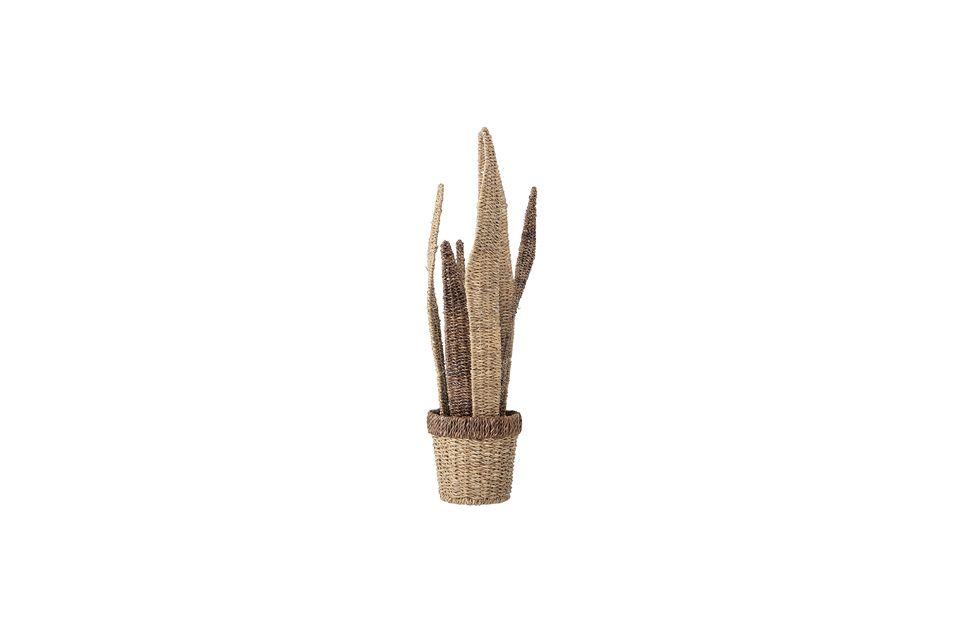 En effet, il laisse s\'échapper des tiges de cactus imité par du bois
