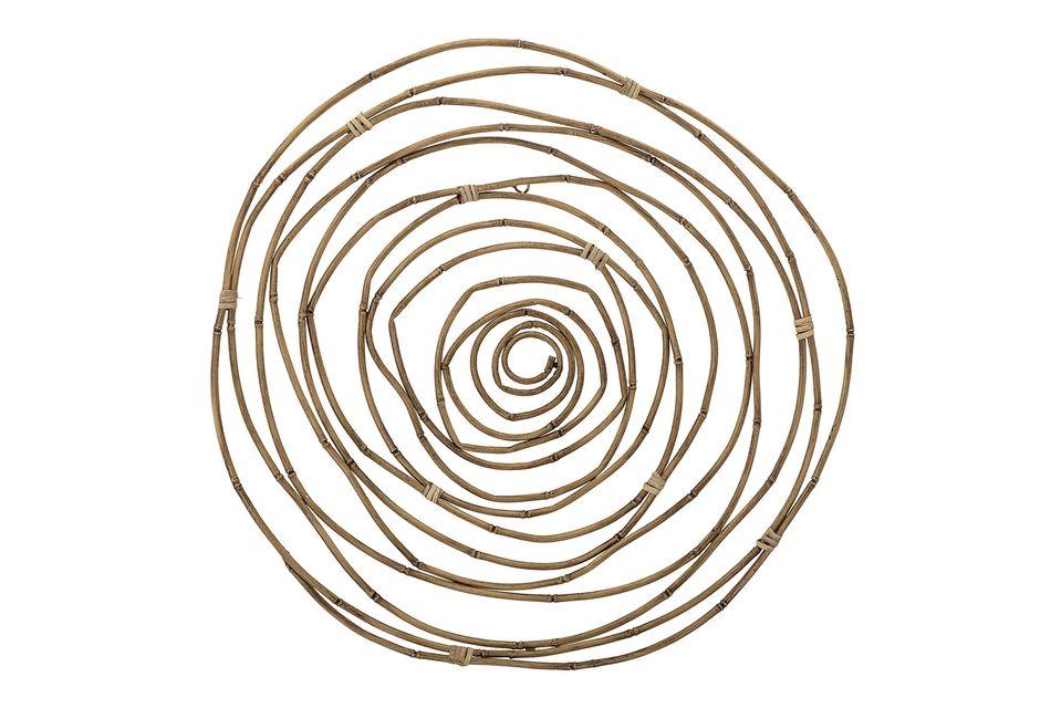 Cette décoration murale circulaire de grand diamètre créera un effet décoratif bienvenue sur un