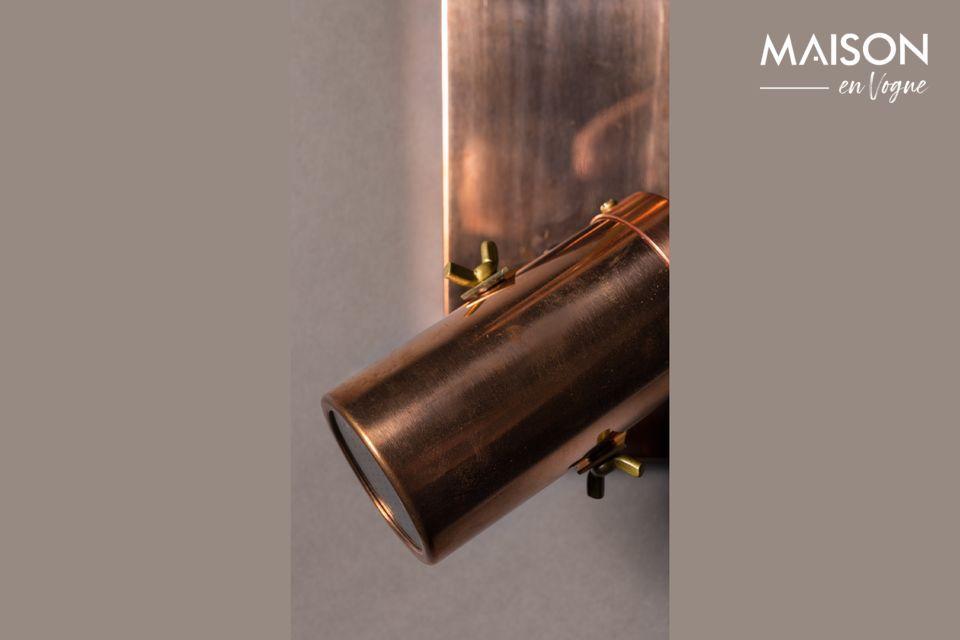 Un double spot LED cuivré au style industriel et chaleureux