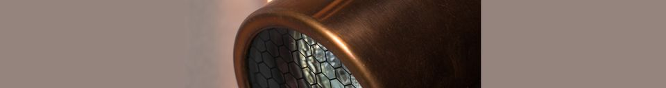Mise en avant matière Double spot lumineux Scope finition cuivre