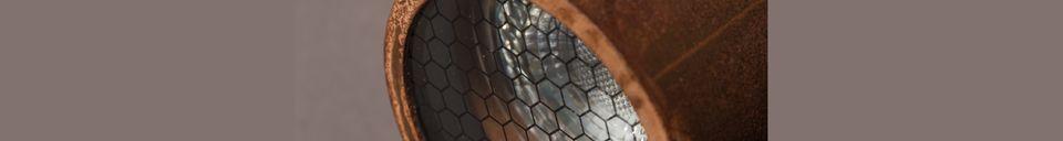 Mise en avant matière Double spot lumineux Scope finition rouille