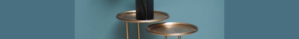 Mise en avant matière Duo de tables d'appoint en métal Eclipse