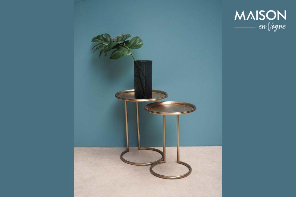 Duo de tables d'appoint en métal Eclipse