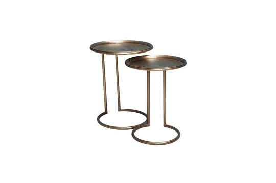 Duo de tables d'appoint en métal Eclipse Détouré