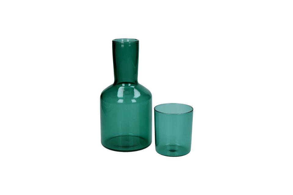 Duo de verre et de carafe en verre Lasi