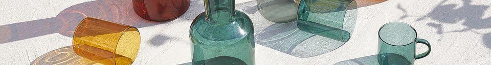 Mise en avant matière Duo de verre et de carafe en verre Lasi