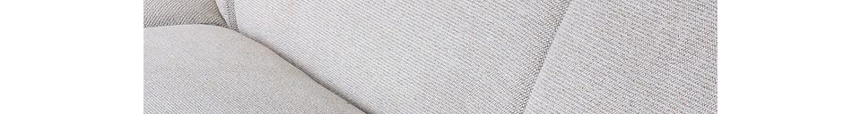 Mise en avant matière Elément de canapé Jax gris clair