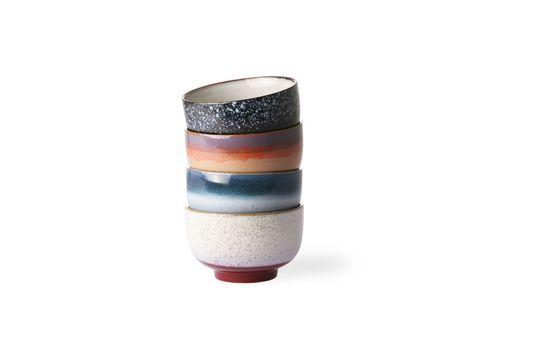 Ensemble de 4 bols en céramique 70's Détouré