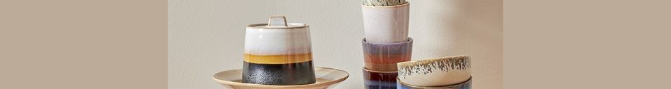 Mise en avant matière Ensemble de 4 bols en céramique 70's