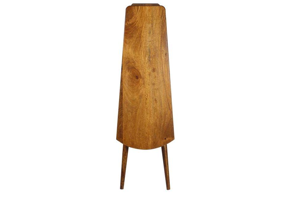 Étagère rétro en bois de manguier