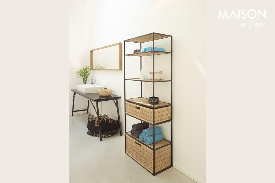 Une étagère haute et moderne pour la chambre ou le salon