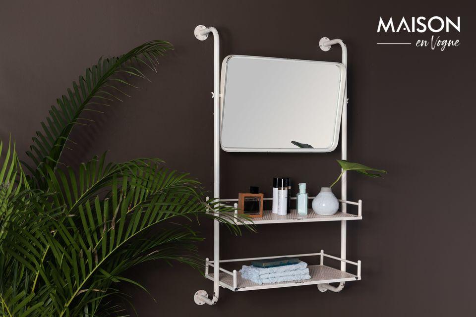 Étagère murale Barber et son miroir