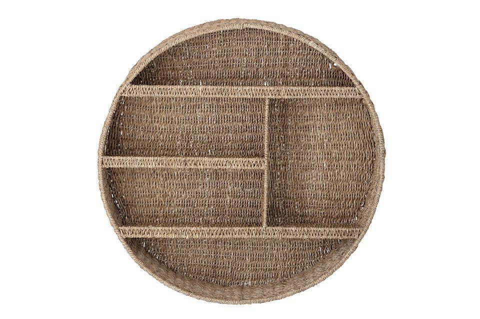 De forme circulaire avec cinq compartiments