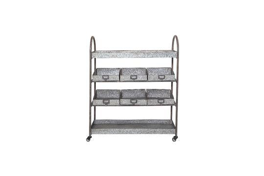 Etagères à tiroirs en métal gris Lafox