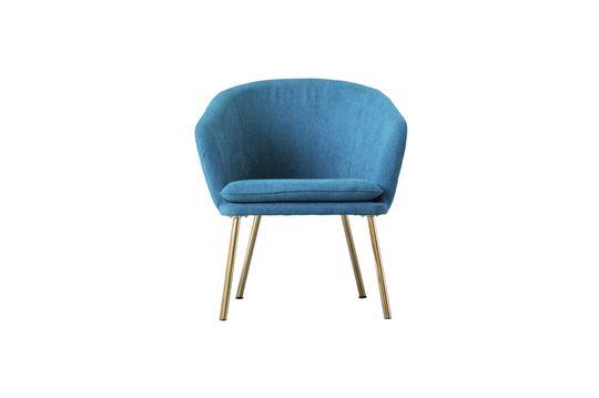 Fauteuil bleu en polyester Thenay