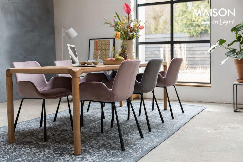 Une chaise ultra confortable, et belle en velours gris foncé chic