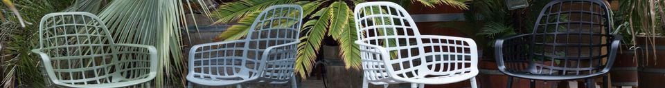 Mise en avant matière Fauteuil de jardin Albert Kuip noir