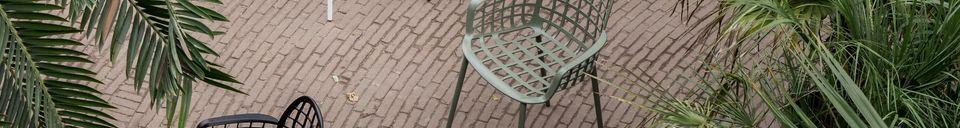 Mise en avant matière Fauteuil de jardin Albert Kuip vert