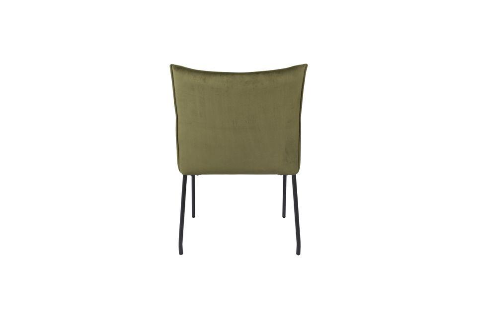 Fauteuil Dion en velours vert olive - 8