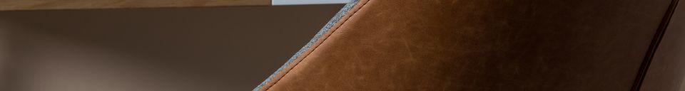 Mise en avant matière Fauteuil Doulton Vintage Brown