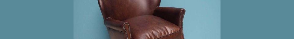 Mise en avant matière Fauteuil en cuir Turner