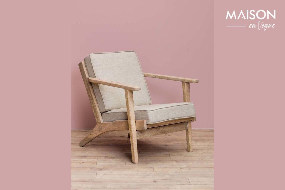 Le fauteuil Théra de Chehoma vous propose d\'opter pour le style rétro avec un fauteuil aux lignes