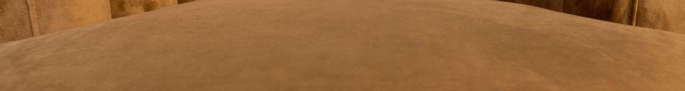 Mise en avant matière Fauteuil Flair marron doré