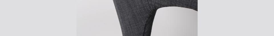 Mise en avant matière Fauteuil Flexback noir et gris foncé