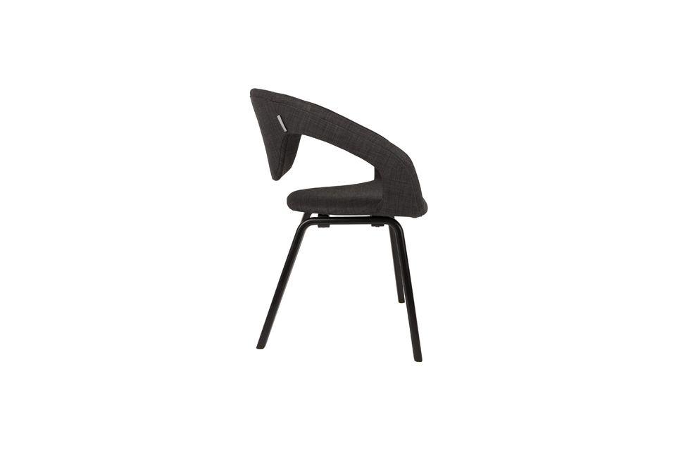 Fauteuil Flexback noir et gris foncé - 6