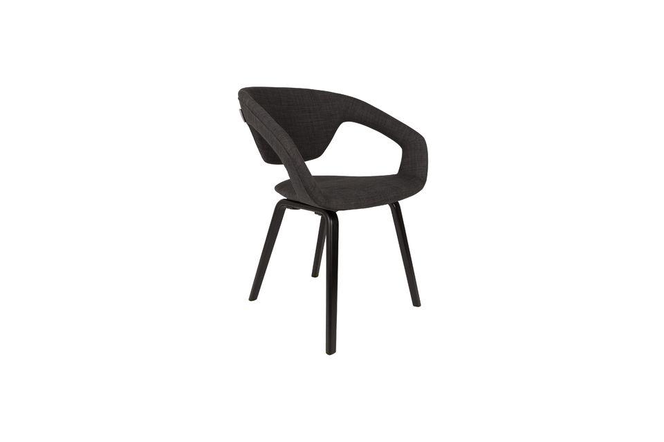 Fauteuil Flexback noir et gris foncé - 4