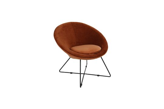 Fauteuil Garbo en Velours Orange