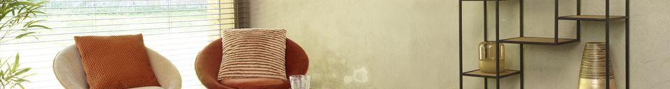 Mise en avant matière Fauteuil Garbo en Velours Orange