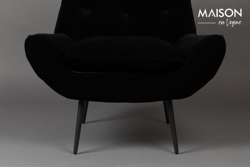 Fauteuil Glodis noir - 3