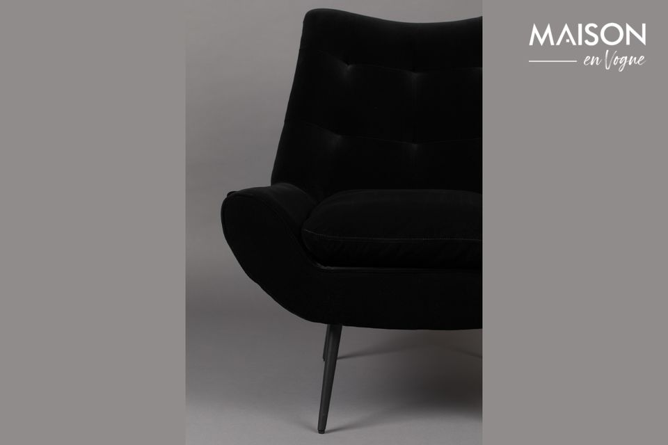 Fauteuil Glodis noir - 7