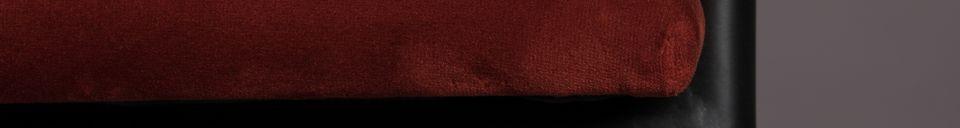 Mise en avant matière Fauteuil Haily Wine Red