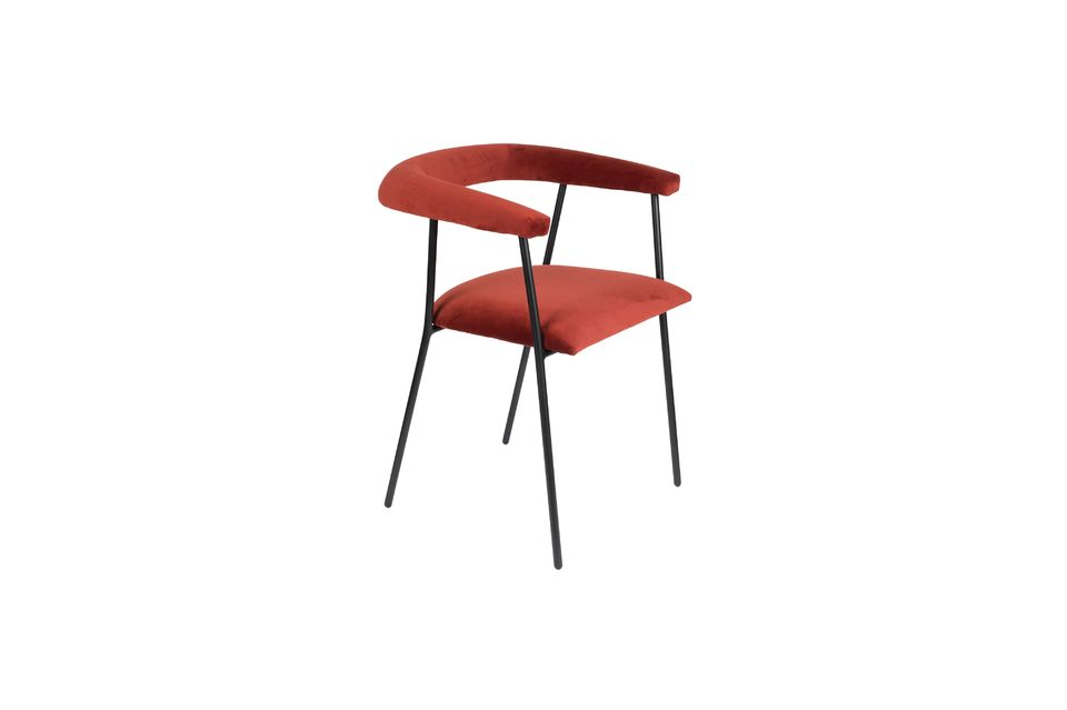 Fauteuil Haily Wine Red - 5