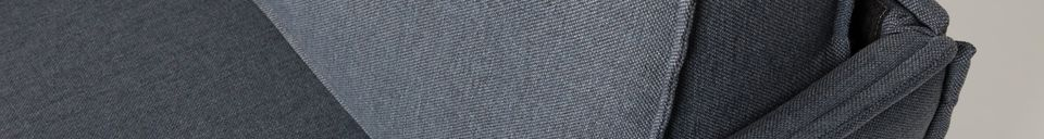 Mise en avant matière Fauteuil Jaey gris-bleu