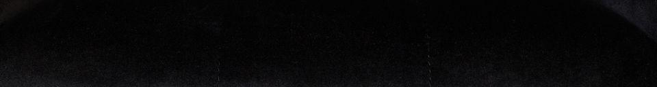 Mise en avant matière Fauteuil Kate en velours noir