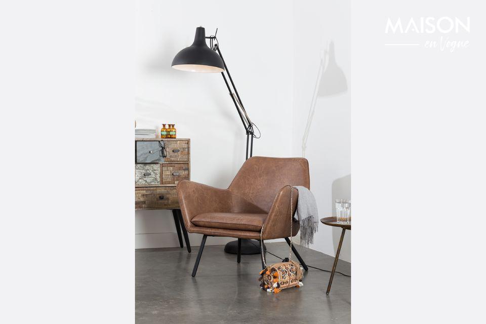 Fauteuil lounge Bon coloris brun White Label
