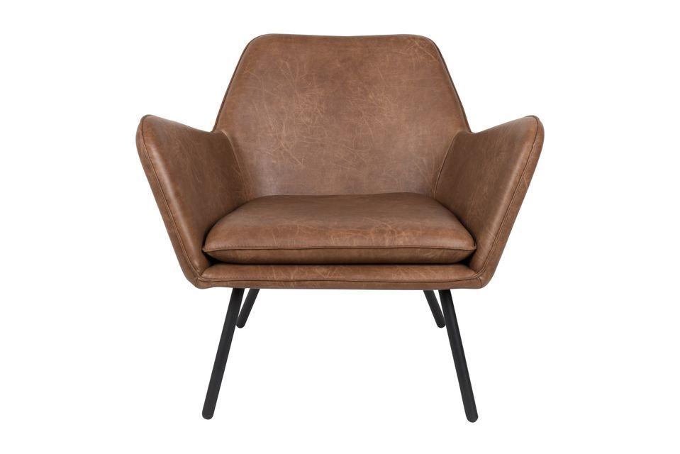 Fauteuil lounge Bon coloris brun - 8