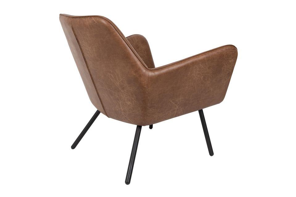 Fauteuil lounge Bon coloris brun - 9