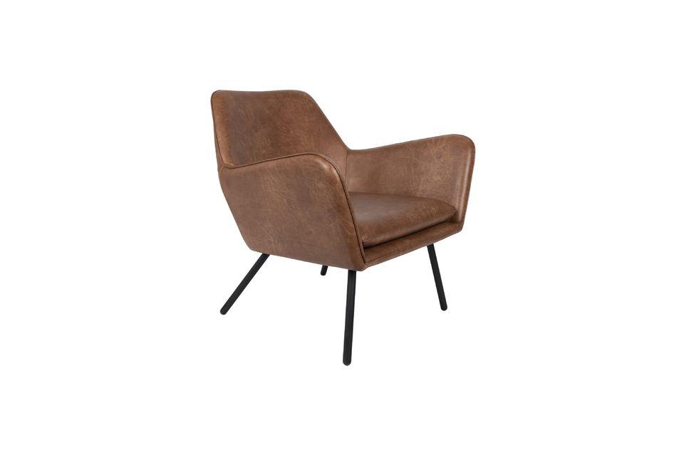 Fauteuil lounge Bon coloris brun - 6