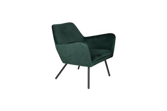 Fauteuil lounge Bon en velours vert Détouré