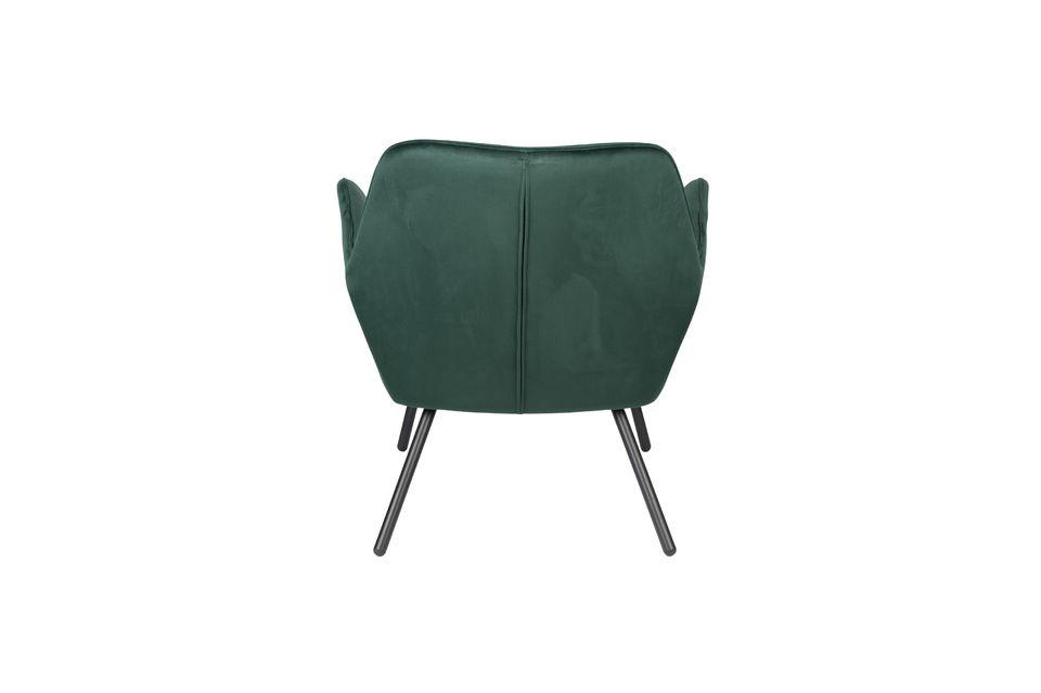 Fauteuil lounge Bon en velours vert - 9