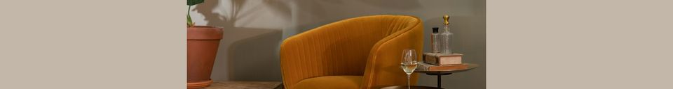 Mise en avant matière Fauteuil lounge Dolly ocre